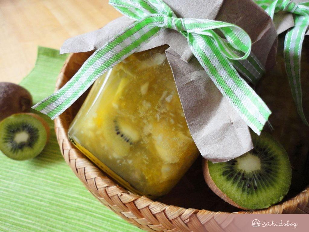 Alma-kiwi-narancs dzsem