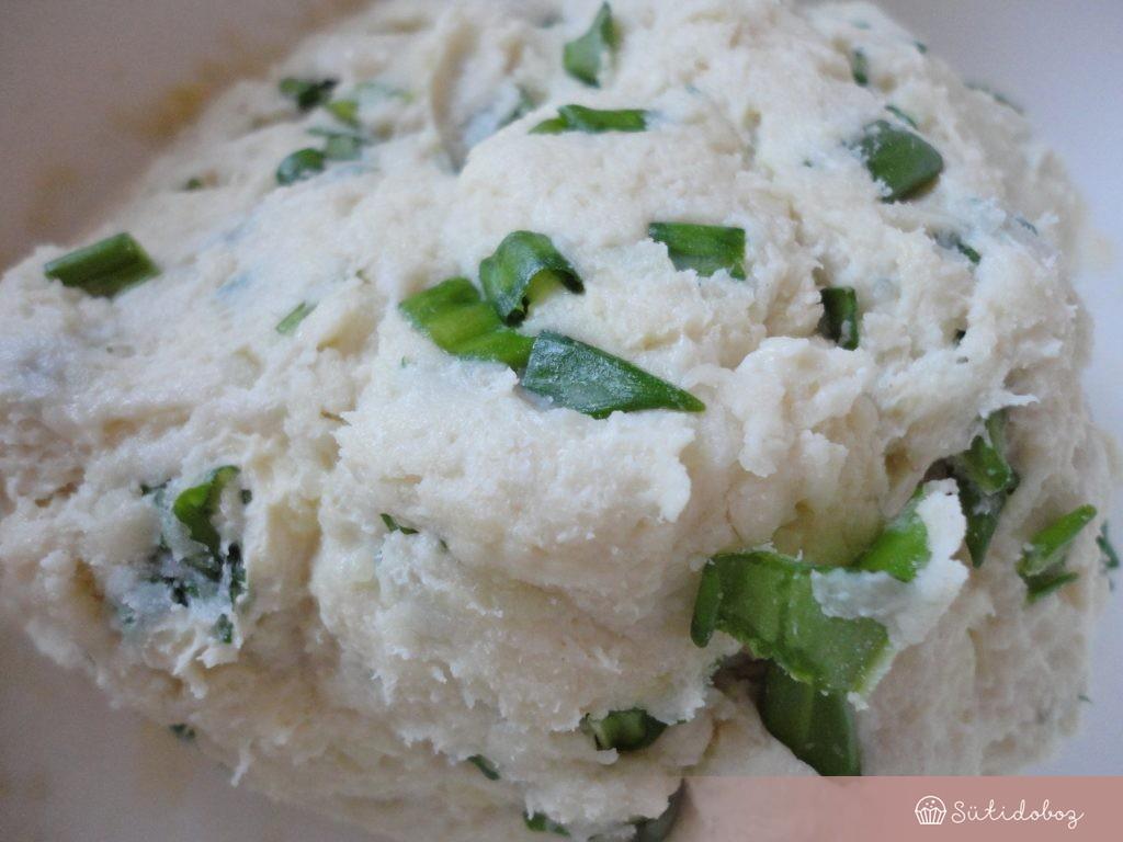 Medvehagymás pogácsa tészta