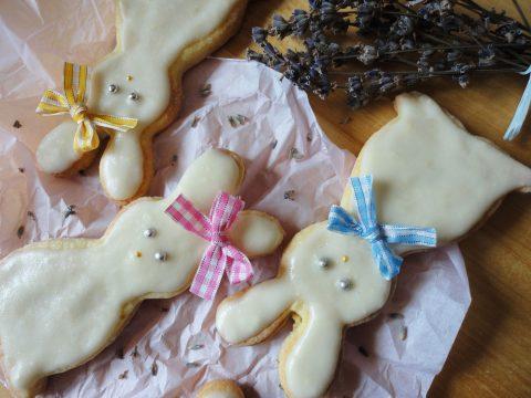 Levendulás-citromos nyuszi keksz