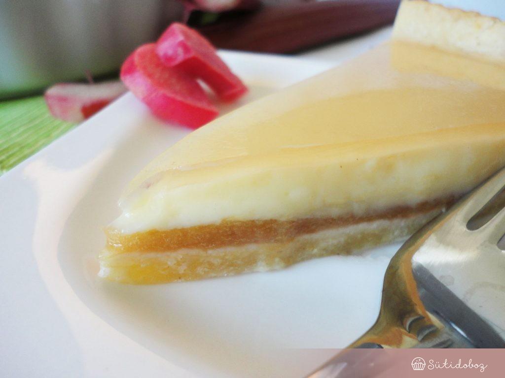 Vaníliás rebarbara torta