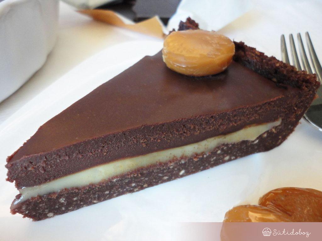 Karamellás trüffel torta