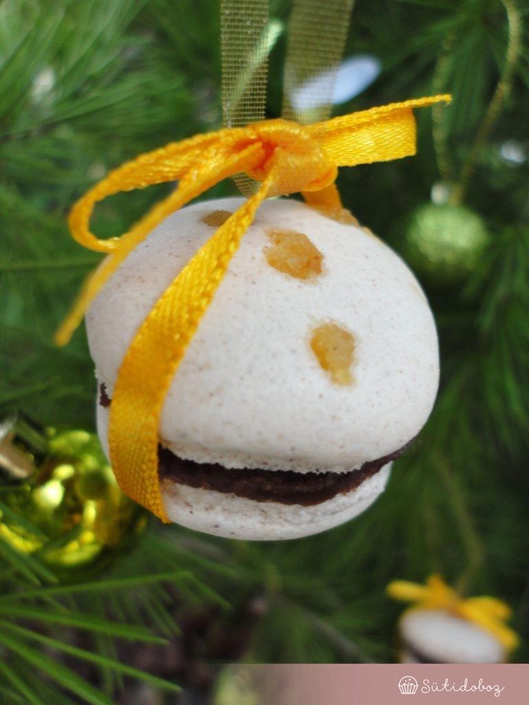 Karácsonyi macaron