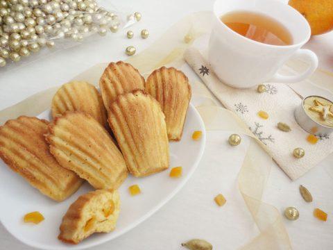 Kardamomos-narancsos madeleine