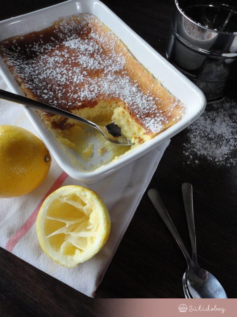 Krémes citromos sült puding