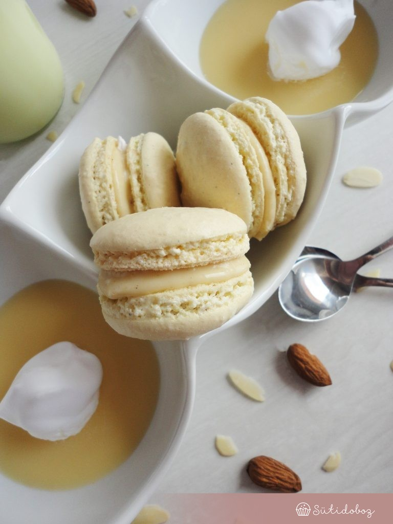 Madártej macaron