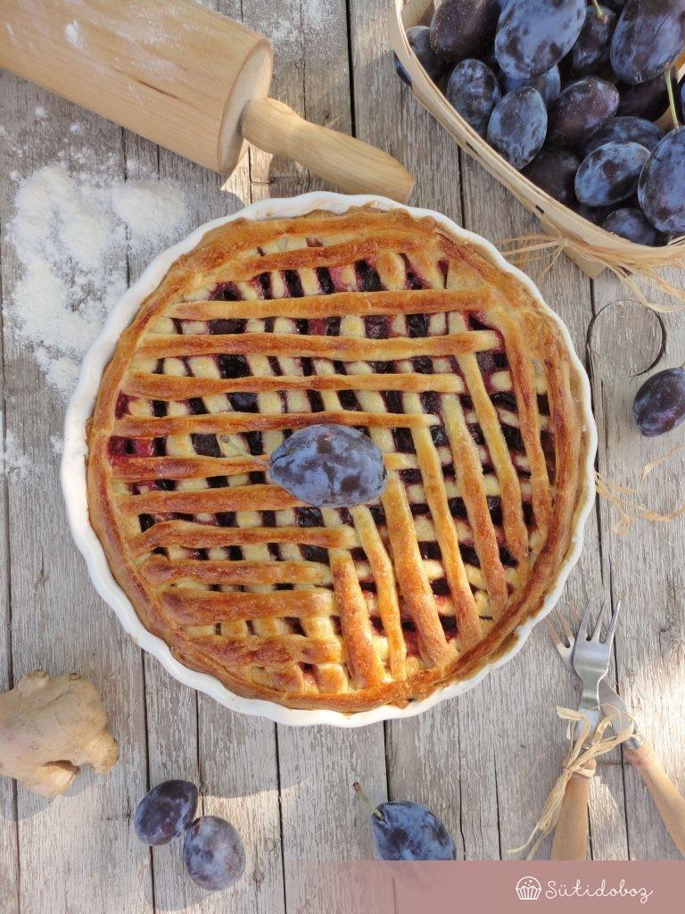 Gyömbéres-szilvás pite