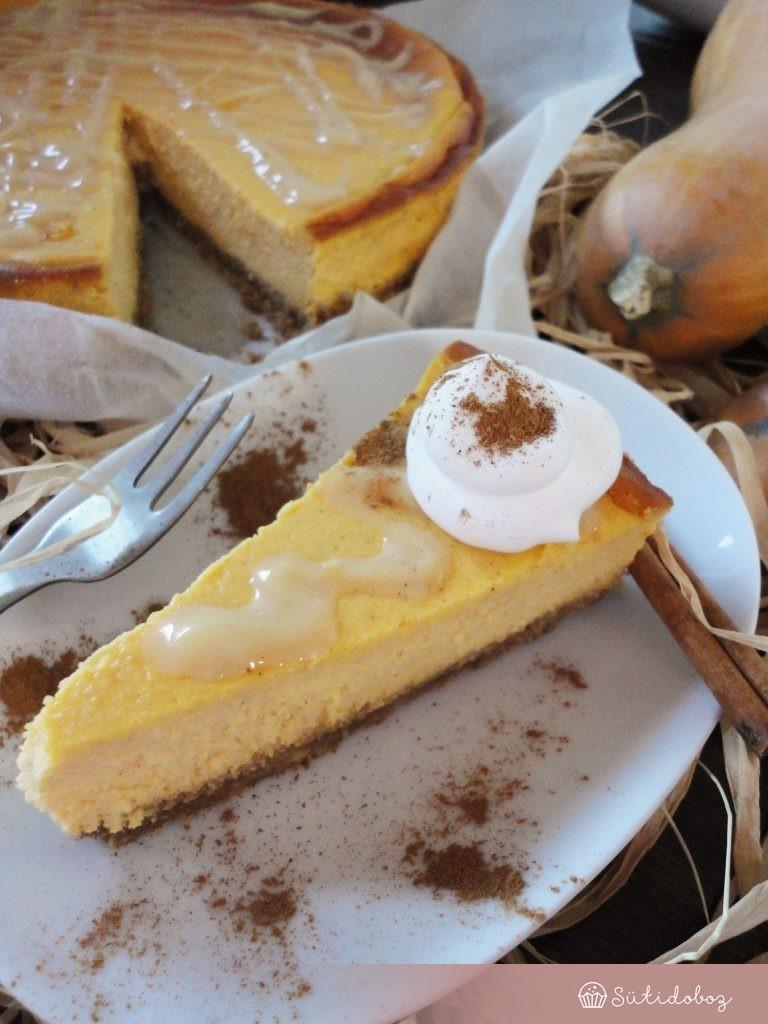 Karamellás-sütőtökös sajttorta