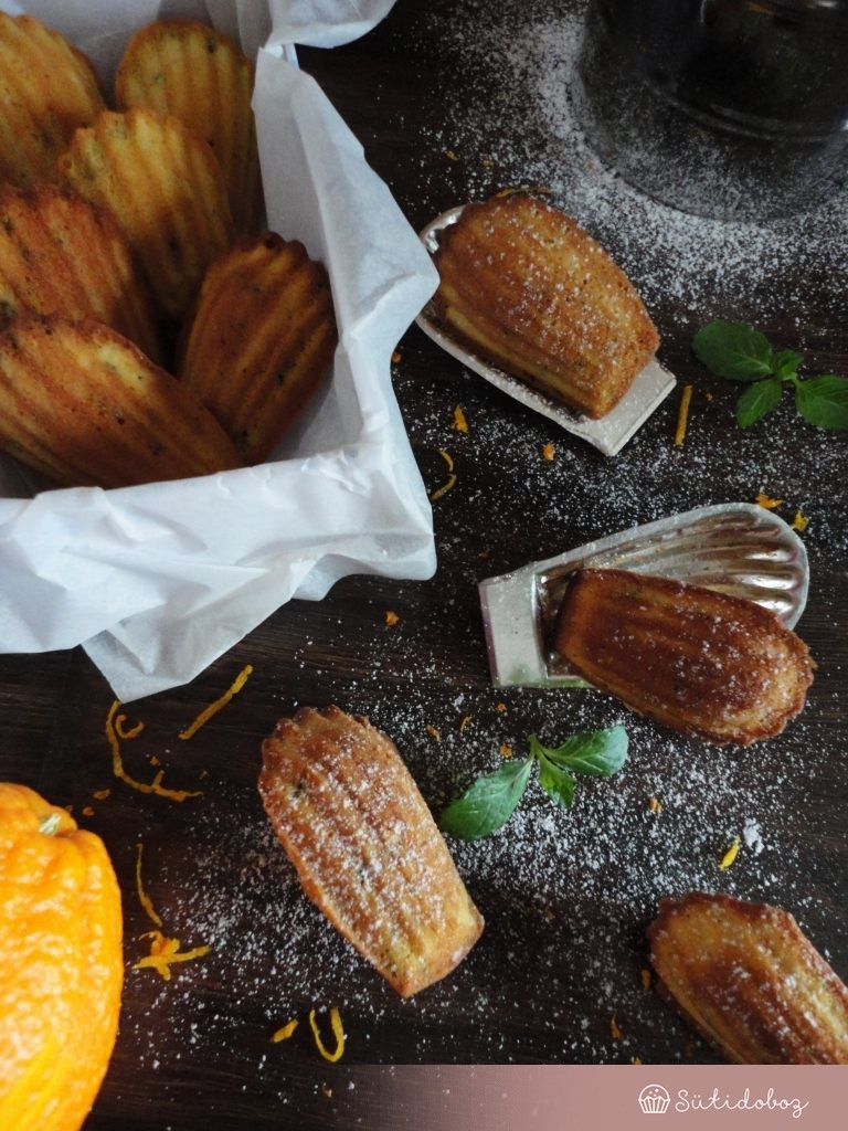 Narancsos-mentás madeleine