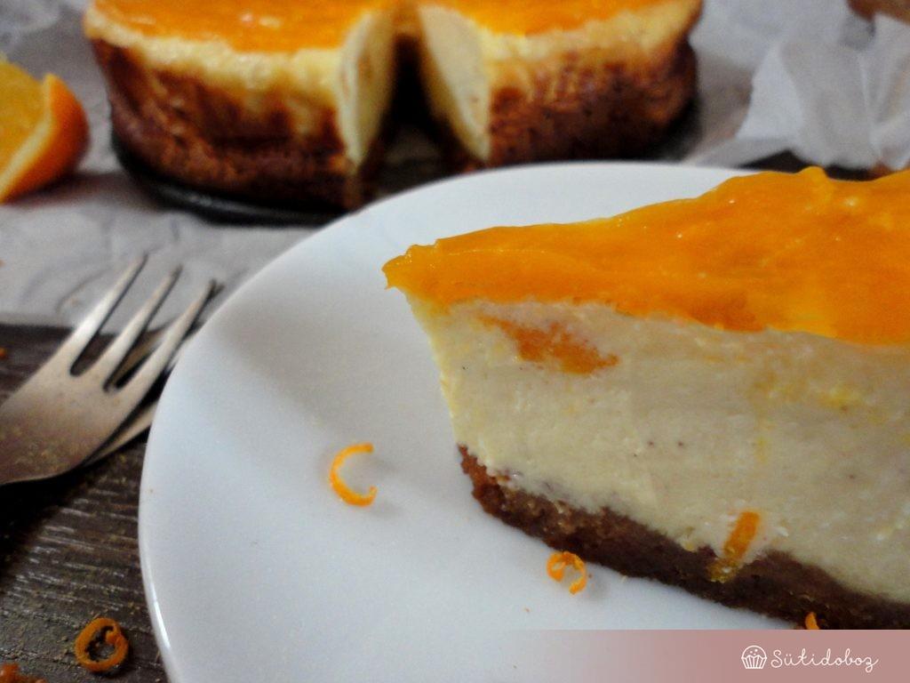 Mézeskalácsos-narancsos sajttorta