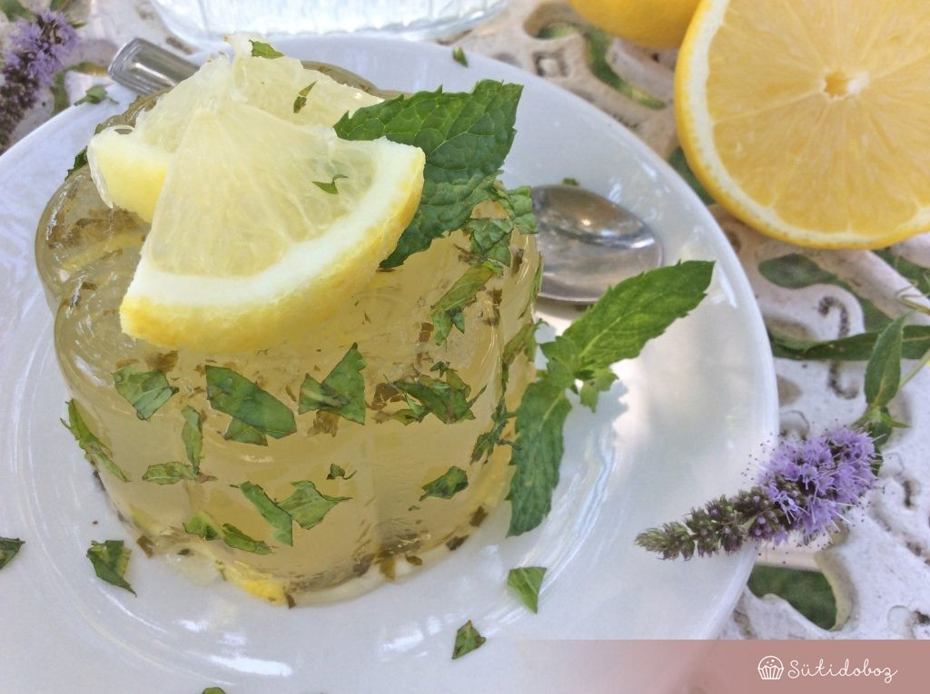 Mentás citromzselé