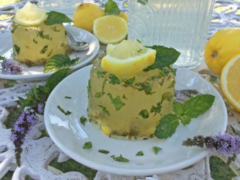 Mentás citrom zselé