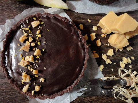 Körtés karamell mousse tortácskák