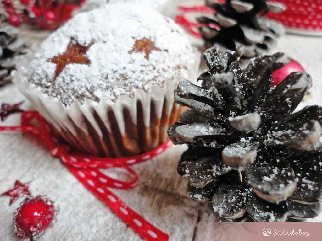 Mézeskalácsos sült almás muffin
