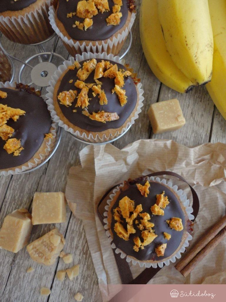 Banoffee muffin törökmézzel
