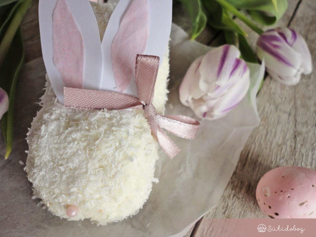 Kókuszos-fehércsokis nyuszi torta