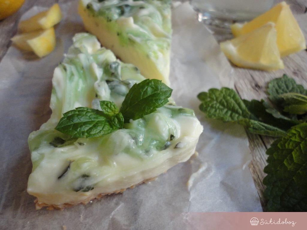 Mojito sajttorta sütés nélkül
