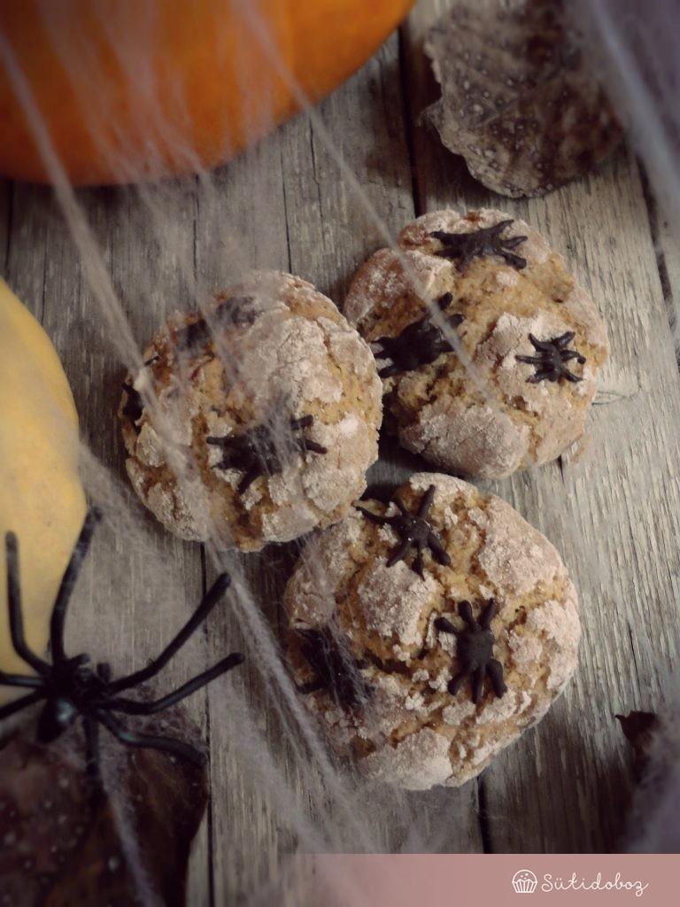 Sütőtökös crinkle cookie