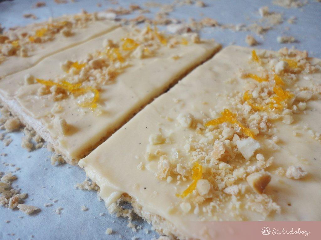 Gluténmentes meyer citromos torta összeállítása