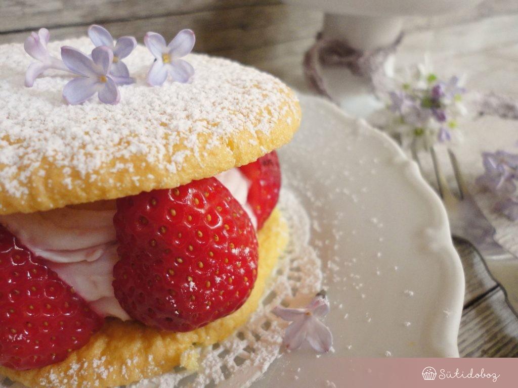 Eperkrémes tortácskák