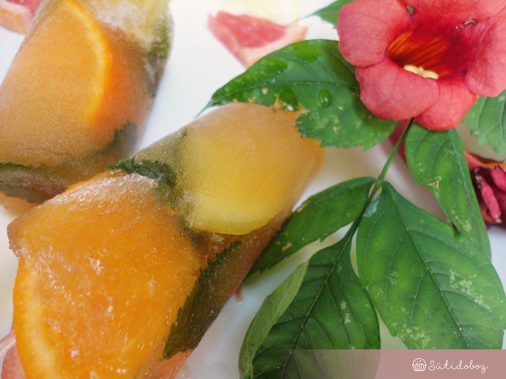 Earl Grey teás jégnyalóka citrusokkal