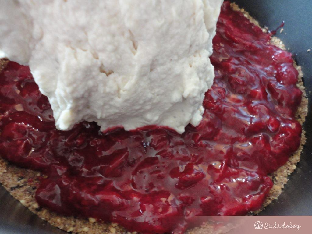 Sütés nélküli gesztenyés torta összeállítása