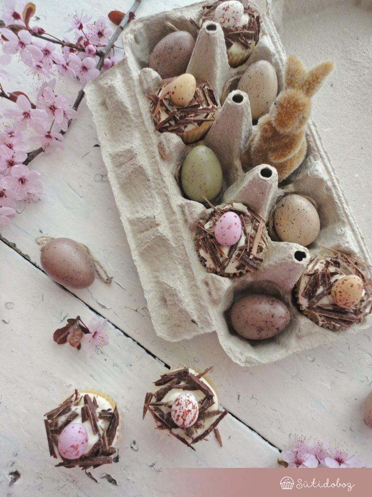 Vaníliás-citromos cupcake
