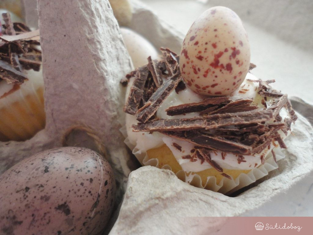 Vaníliás citromos cupcake