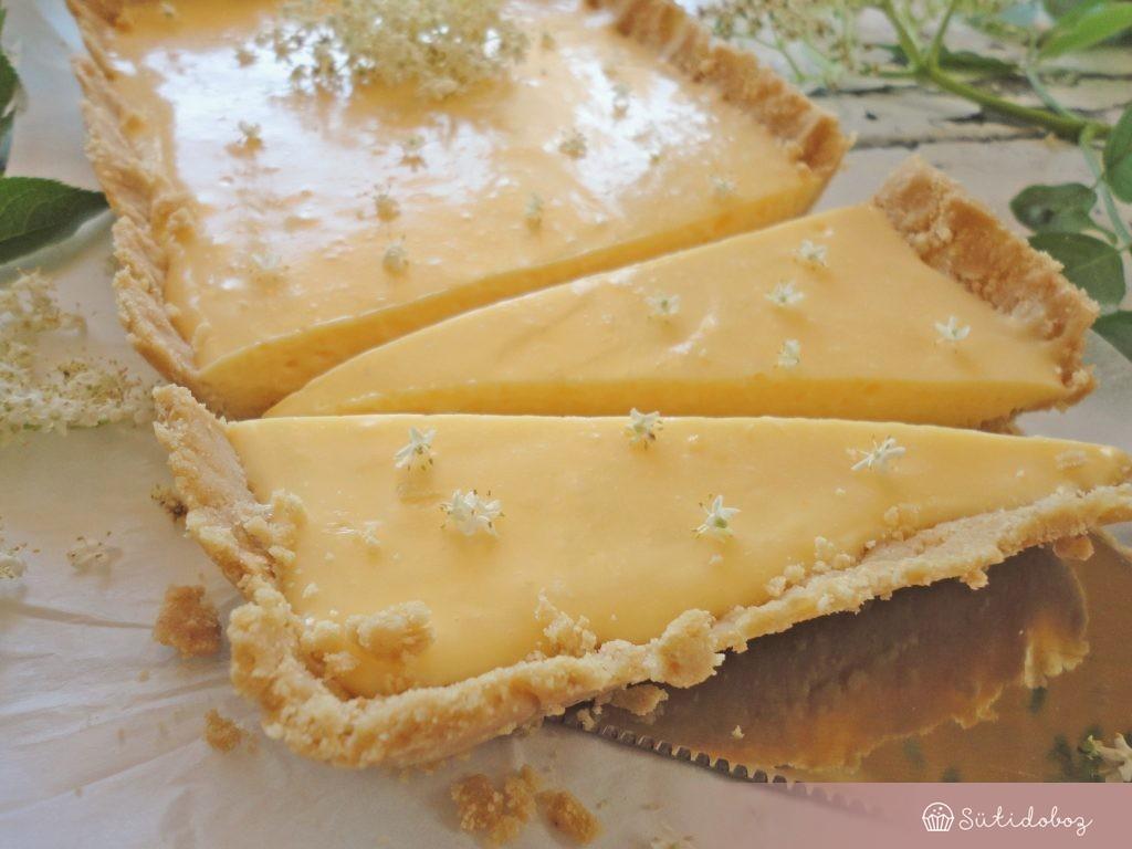 Bodzás citromos tart