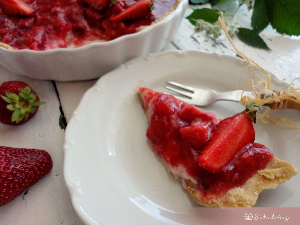 Epres-fehércsokis torta sütés nélkül