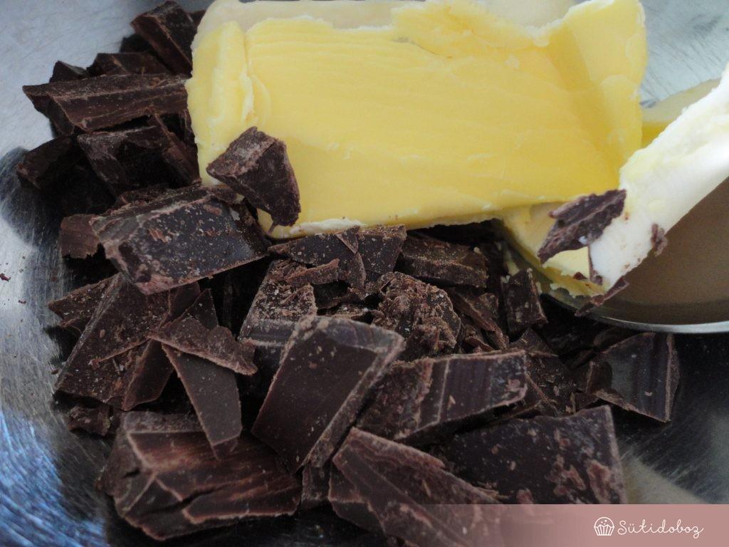 Gluténmentes brownie készítése
