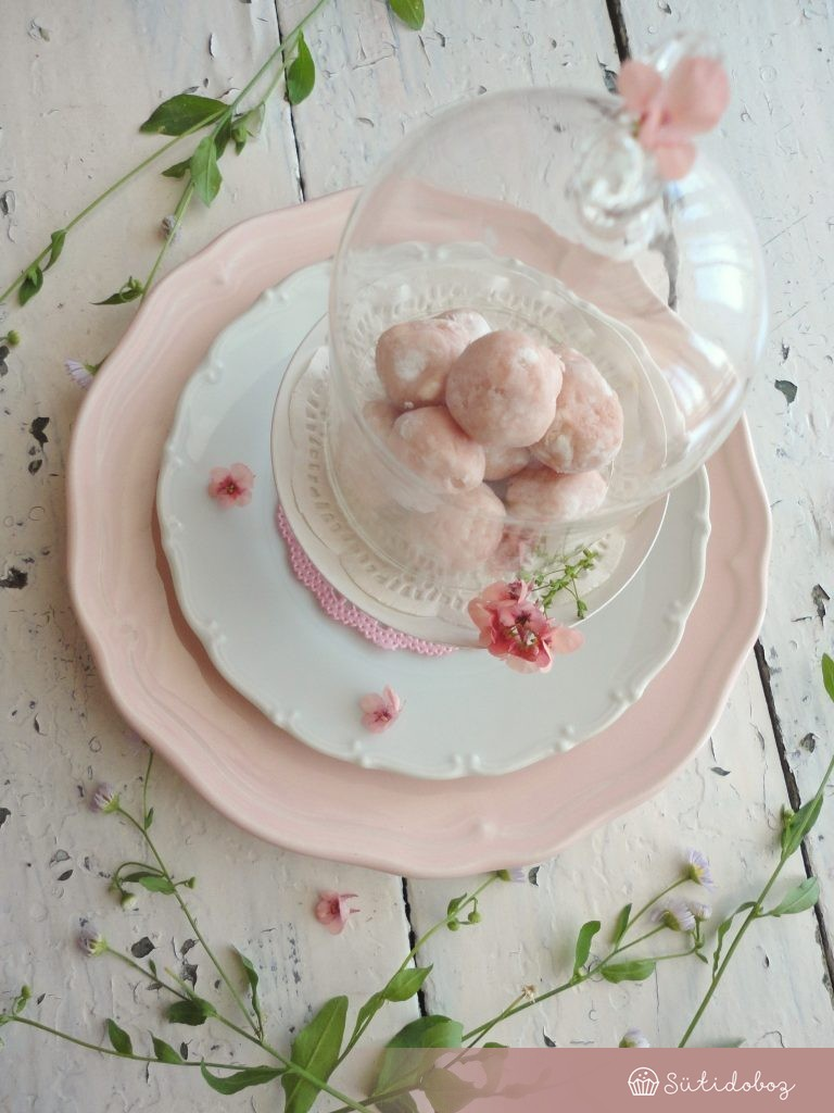 Rosé pezsgős trüffelgolyók