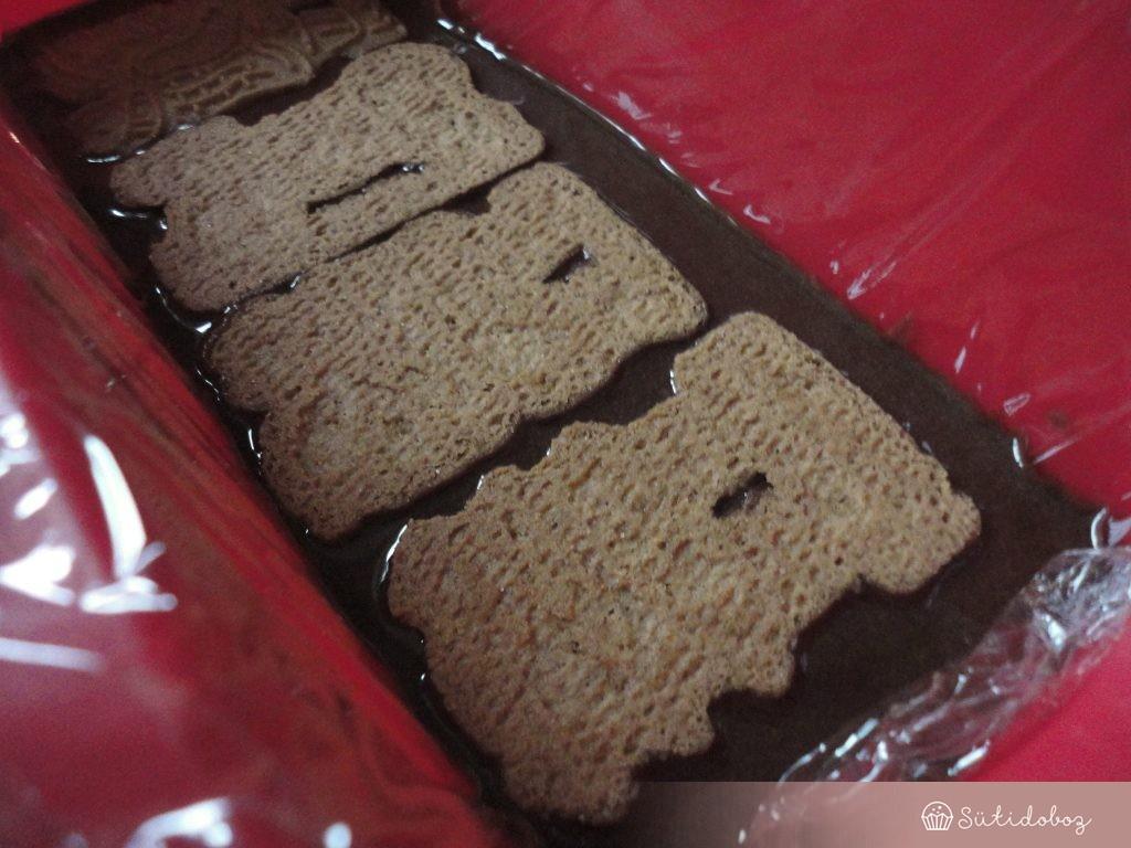 Spekulatius keksz szalámi összeállítása
