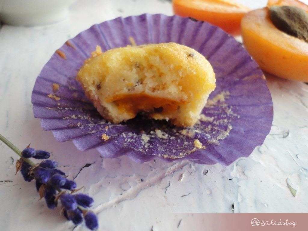 Sárgabarackos-levendulás muffin