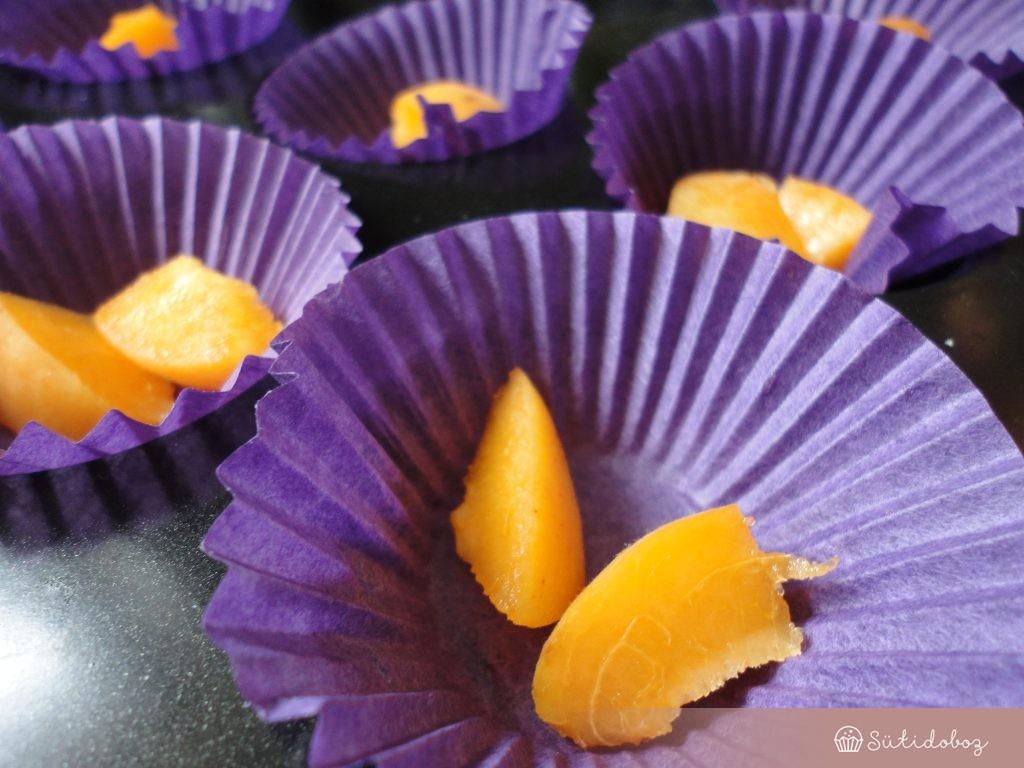 Sárgabarackos-levendulás muffin készítése
