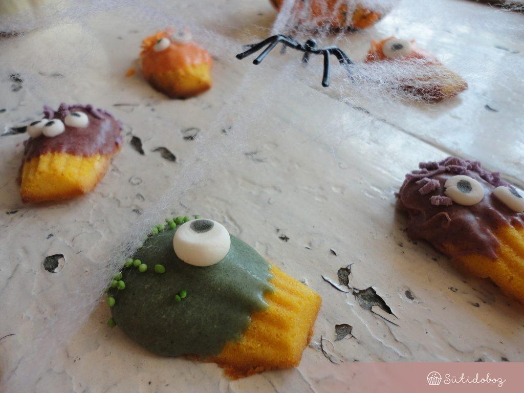 Sütőtökös-narancsos madeleine szörnyek