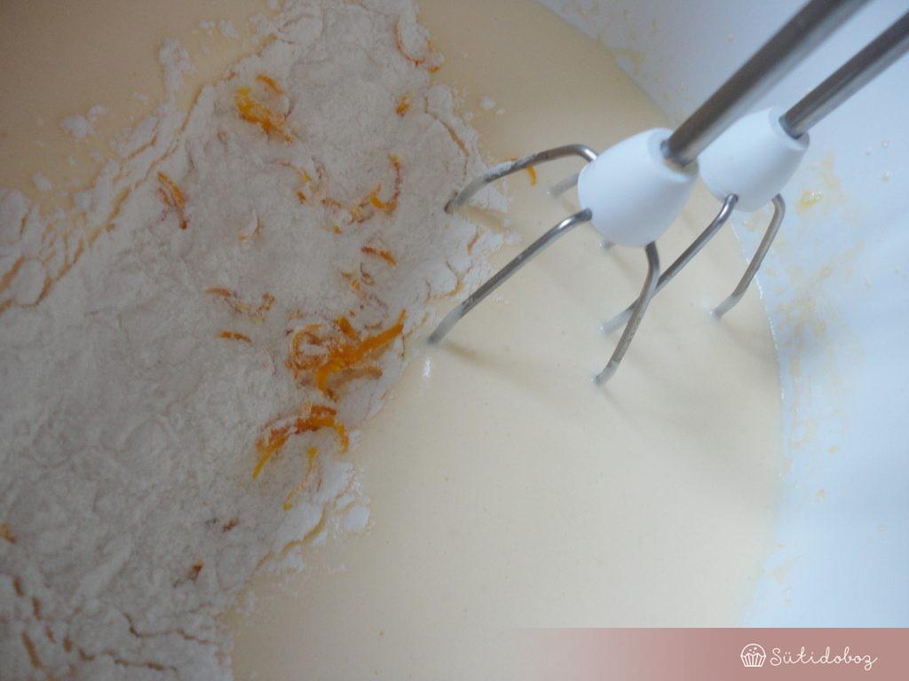 Meyer citromos piskóta készítése