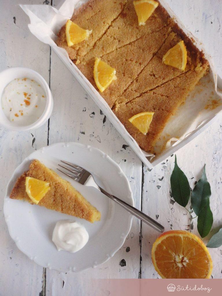Narancsos polenta torta