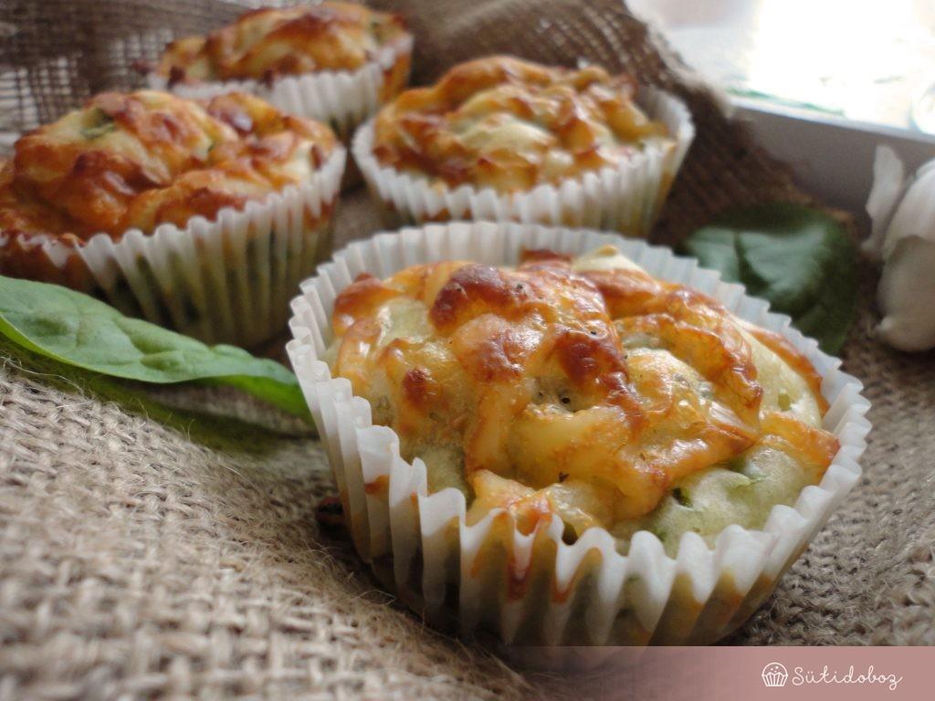 Spenótos muffin