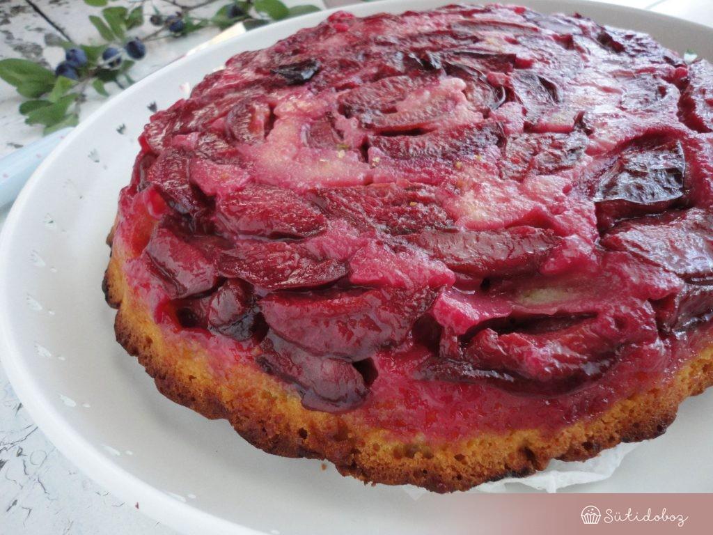 Fordított szilva torta