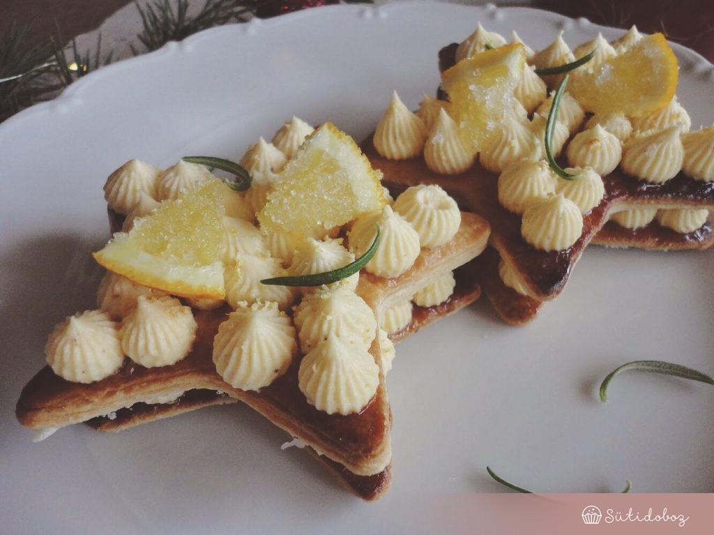 Narancsos-vaníliás mille feuille