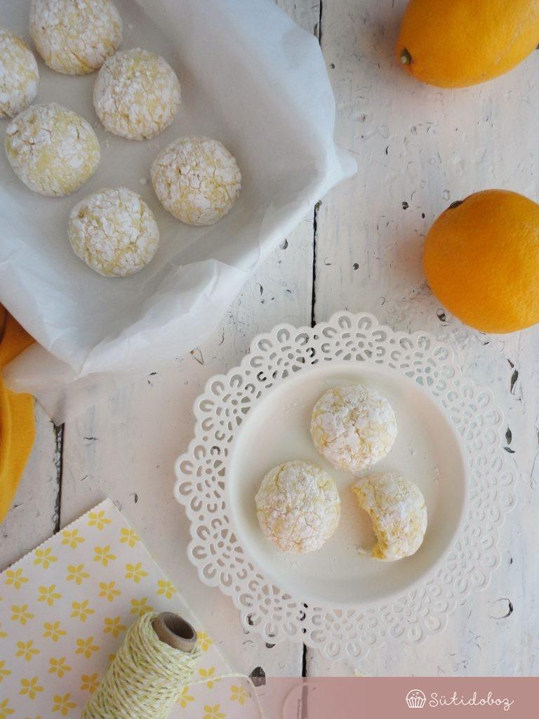 Meyer citromos crinkle cookie