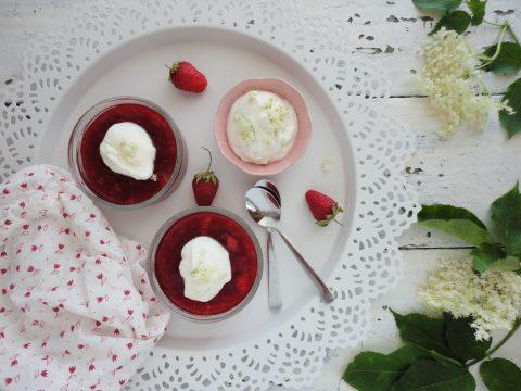 Eper puding joghurtos bodza habbal