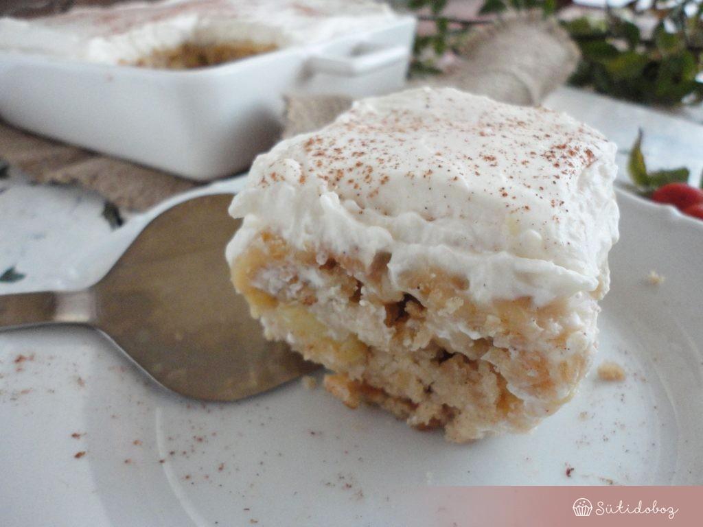 Karamellás almás süti