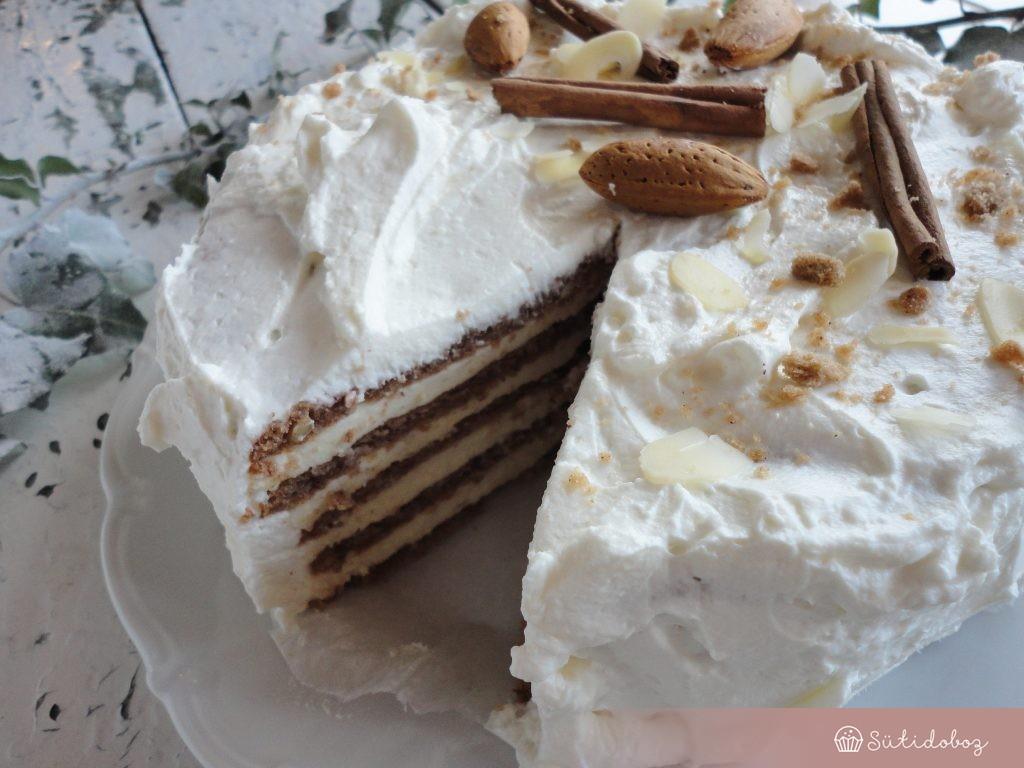 Fahéjas mandula torta