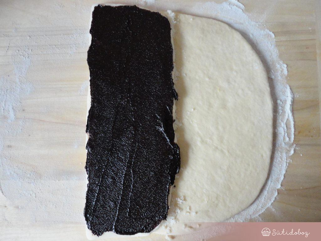 Csokis-kókuszos fonat készítése