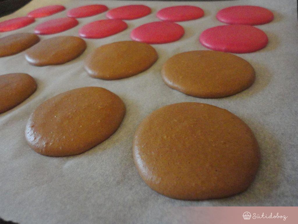 Csokis-tonkababos macaron készítése